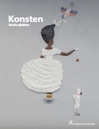 Framsida av broschyren Konsten Nacka sjukhus
