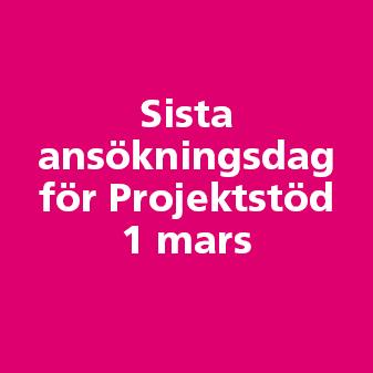 Sök projektstöd innan den 1 mars