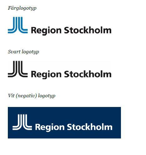 Region Stockholm logotyper