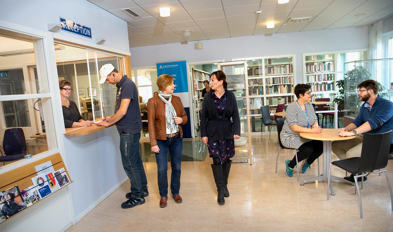 receptionen på Regionarkivet