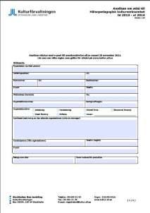 Bild på en ansökningsblankett
