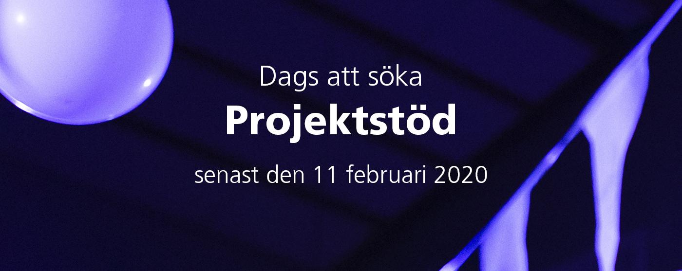 Dags att söka projektstöd 2020 senast 11 februari