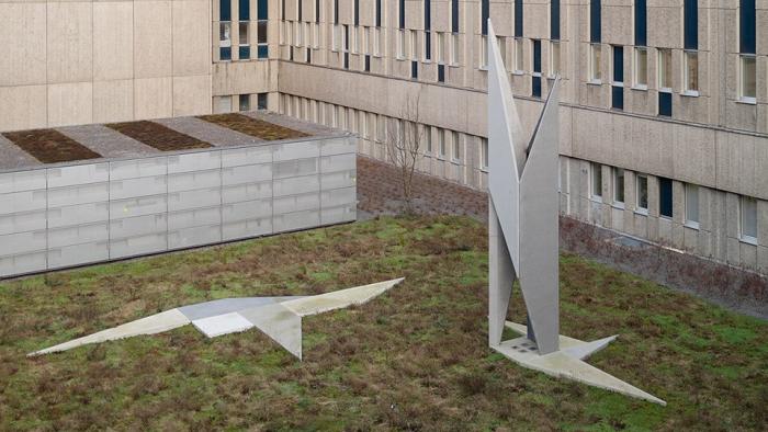 Foto av skulptur av konstnären Anders Sletvold Moe