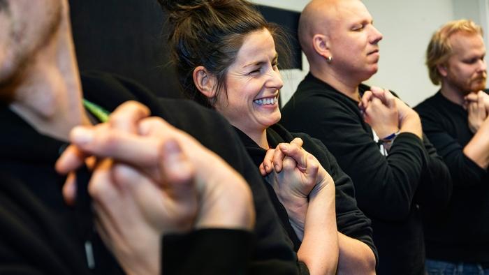 Fyra människor i workshop
