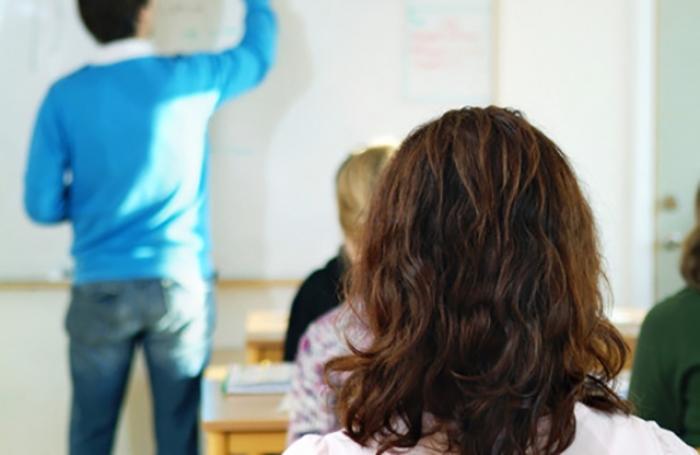Person i klassrum