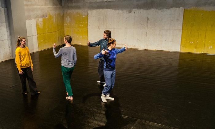 Fyra personer på en scen, foto Anna Molander