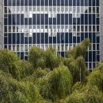 Skissbild Huddinge sjukhus. White Arkitekter